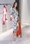 Model in A+O dress