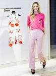 Model in Valentino Pink